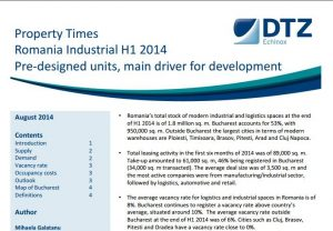 Property Times Romania H1 2014 Industrial Market echinox