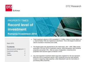 Property Times Romania Investment 2014 dtz echinox