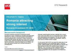 Property Times Romania Investment H1 2015 113 dtz echinox