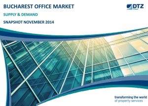 Bucharest office market Supply & Demand dtz echinox 1